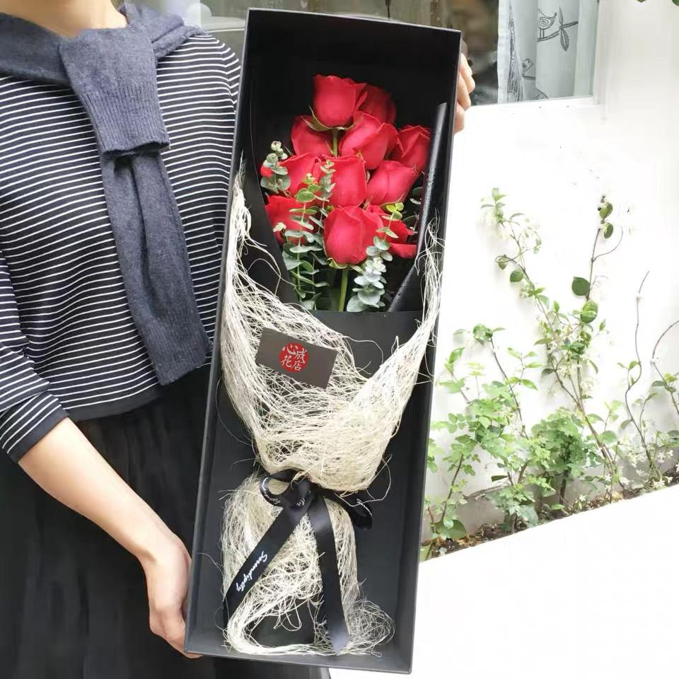 你是朝阳-11朵红玫瑰配精美礼盒盛放
